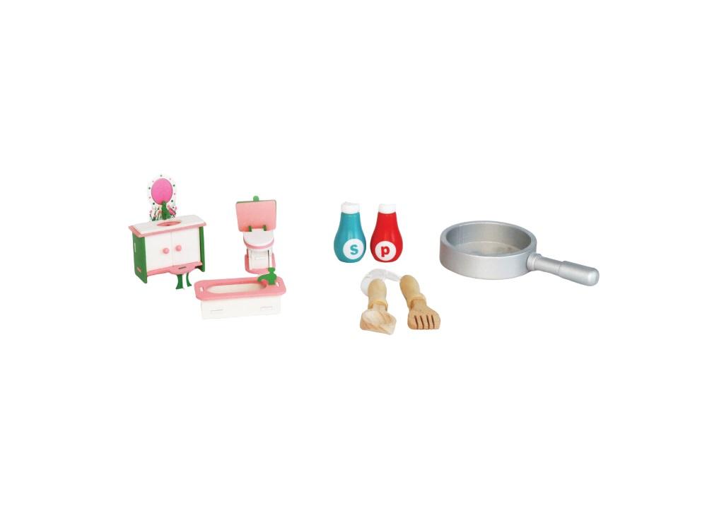 מטבח משחק לילדים ובית בובות I AM כולל כלים וריהוט