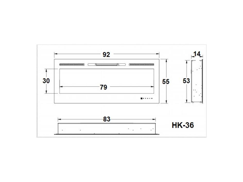 קמין חשמלי דגם HK-36