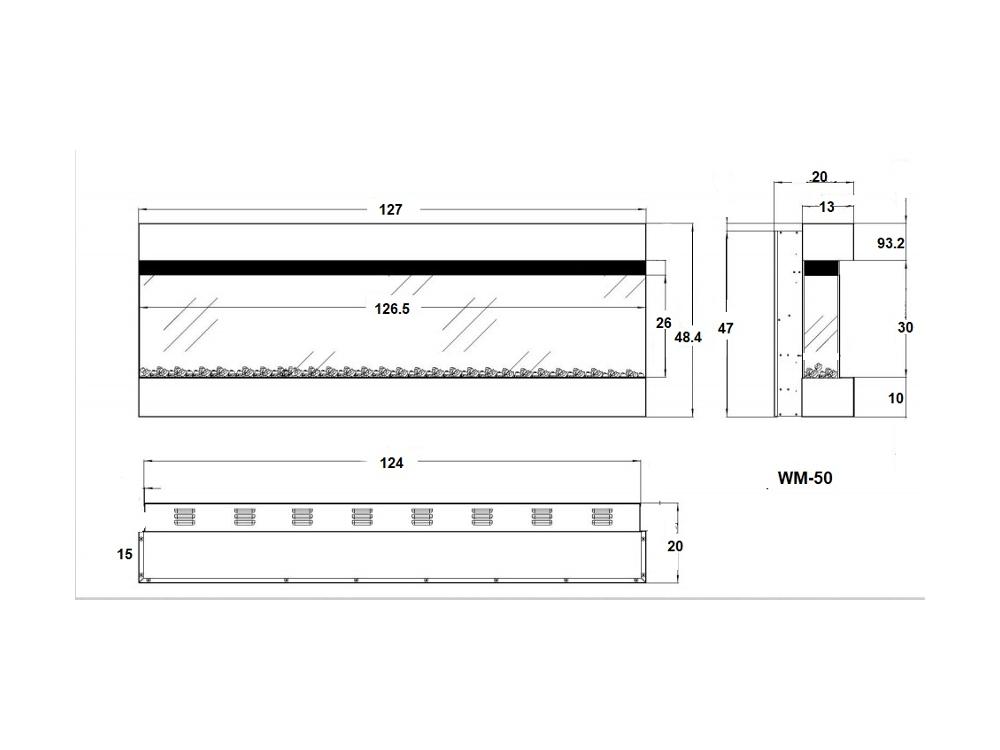 קמין חשמלי HK-50WM