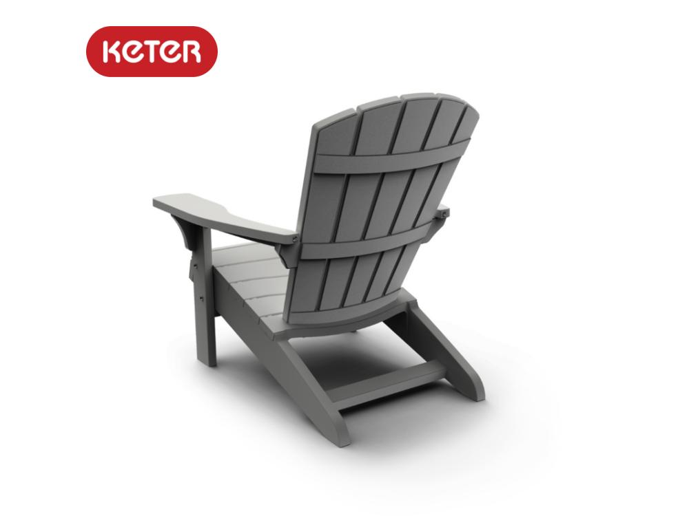 כסא אדירונדק ADIRONDACK מבית כתר - צבע אפור