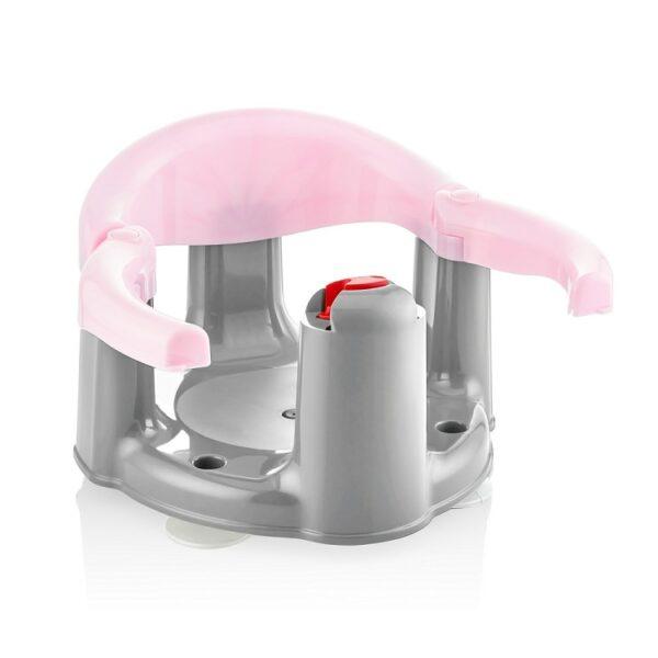 טבעת אמבטיה נפתחת לתינוק בצבע ורוד