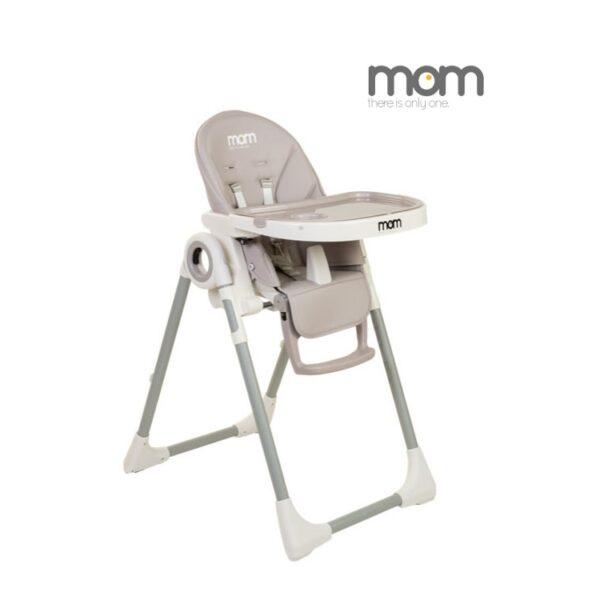 כסא אוכל לתינוק עולה יורד ומתקפל מאמ mom צבע אפור