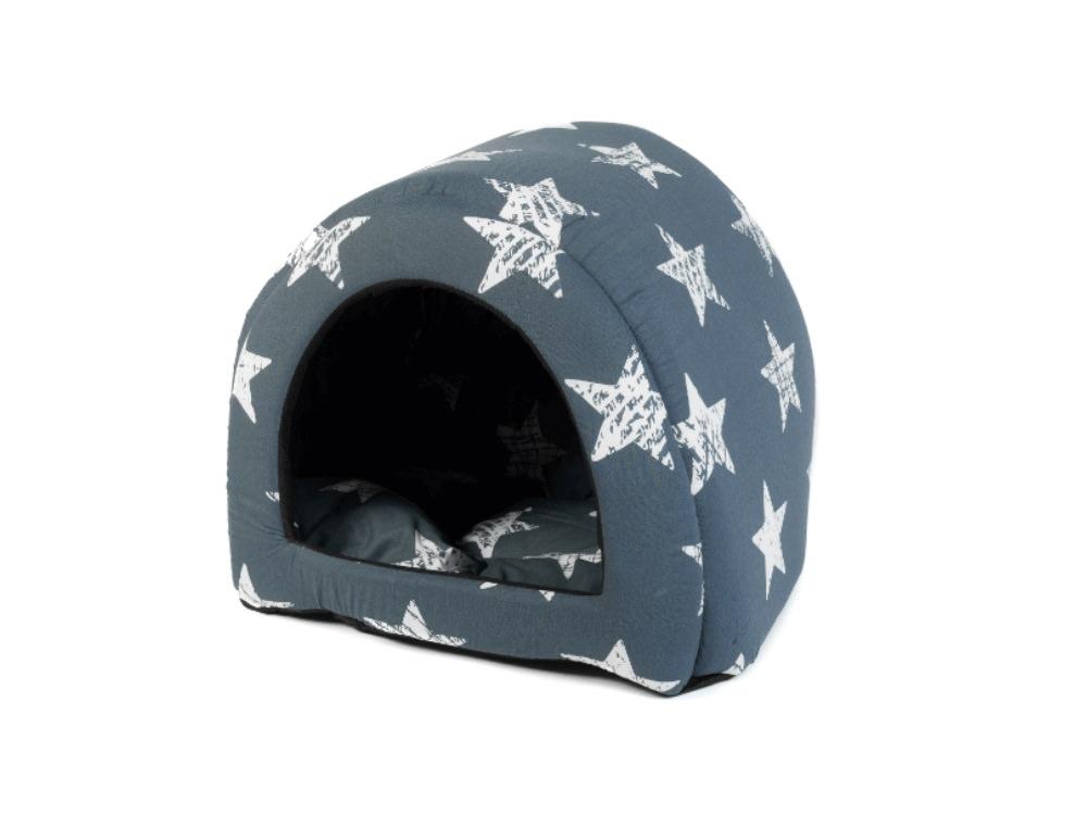 מיטה לחתול אפור כוכבים