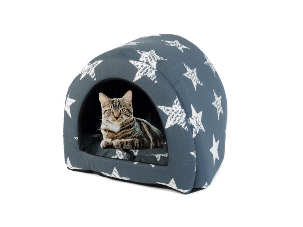 מיטה לחתולים בצבע ורוד