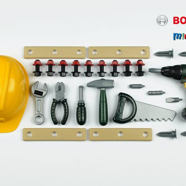 סט כלי עבודה 36 חלקים+מברגה+קסדה BOSCH תוצרת גרמניה