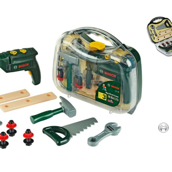 מזוודה עם כלי עבודה כולל מקדחה BOSCH תוצרת גרמניה