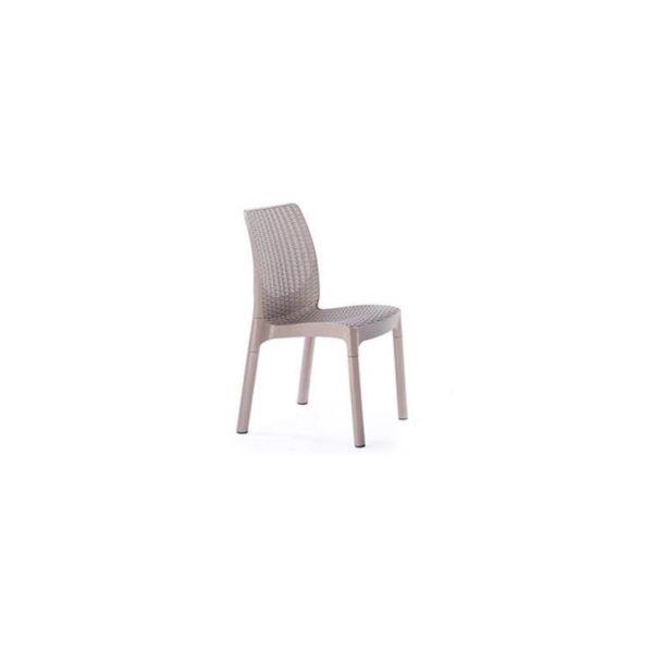 כסא בצבע בז' סט ביסטרו