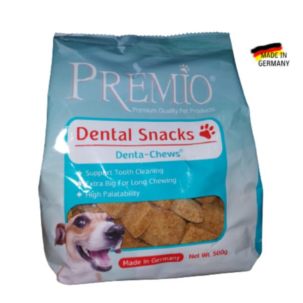 ביסקוויטים דנטליים לכלב פרמיו PREMIO (אריזה 500 גרם)