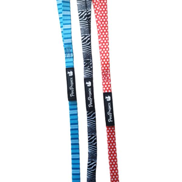 """רצועה לכלב בד צבעוני מידה XS אורך 1.5 מטר רוחב 1 ס""""מ"""