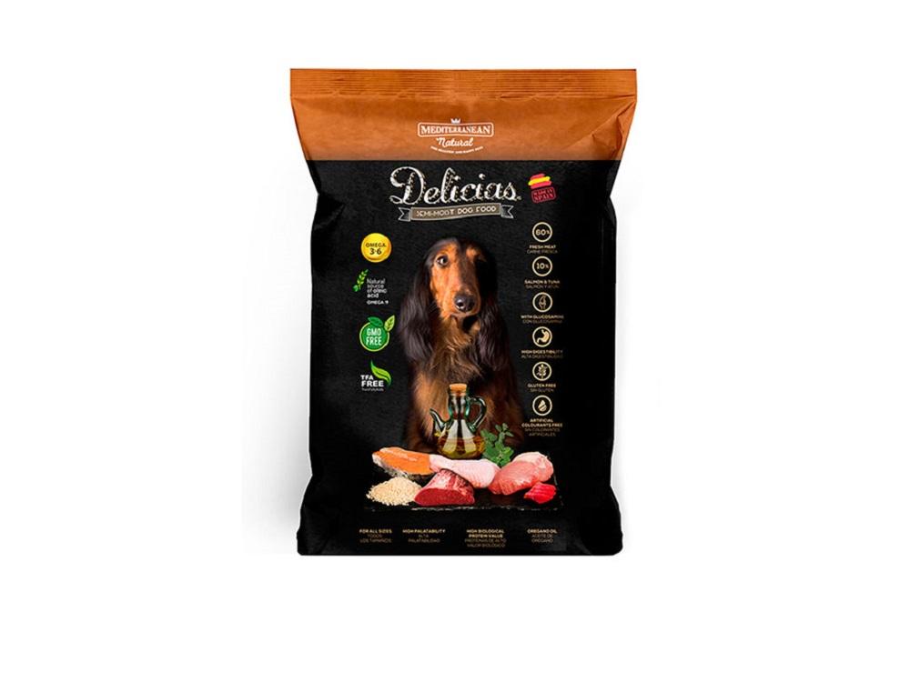 """דלישס מזון לכלב / חטיף משלים 1.5 ק""""ג Delicias (ספרד)"""