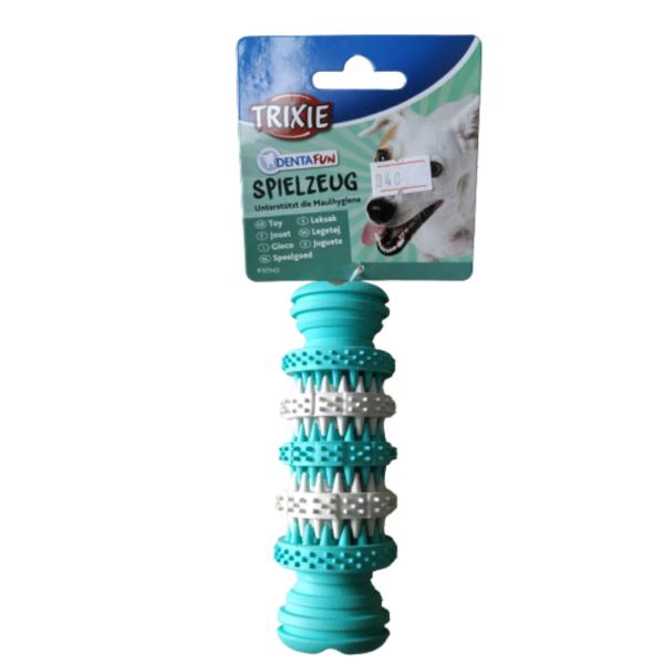 "עצם גומי טבעי טריקסי צעצוע דנטל פאן בטעם מנטה 11 ס""מ"