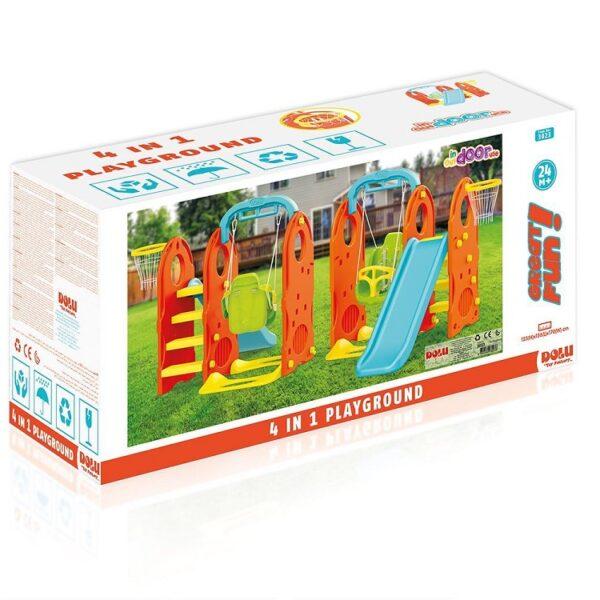 מתקן חצר משולב 4 ב 1 Dolu Toys