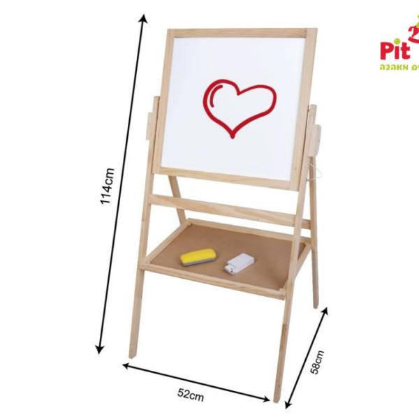 לוח ציור מעץ דו צדדי מעץ מבית Pit Toys פיט טויס