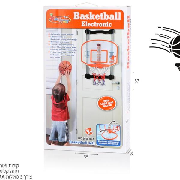 לוח כדורסל לתליה על דלת עם ניקוד אלקטרוני, קולות ואורות