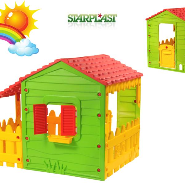 בית משחקים לילדים Farm House עם מרפסת צדדית STAR PLAST