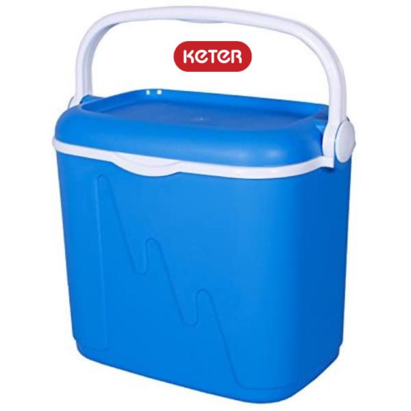 """צידנית 32 ליטר מבית """"KETER"""" - צבע כחול"""