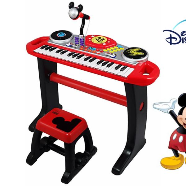 אורגן אלקטרוני מיקי מאוס לילדים Disney+מעמד+מיקרופון+כסא
