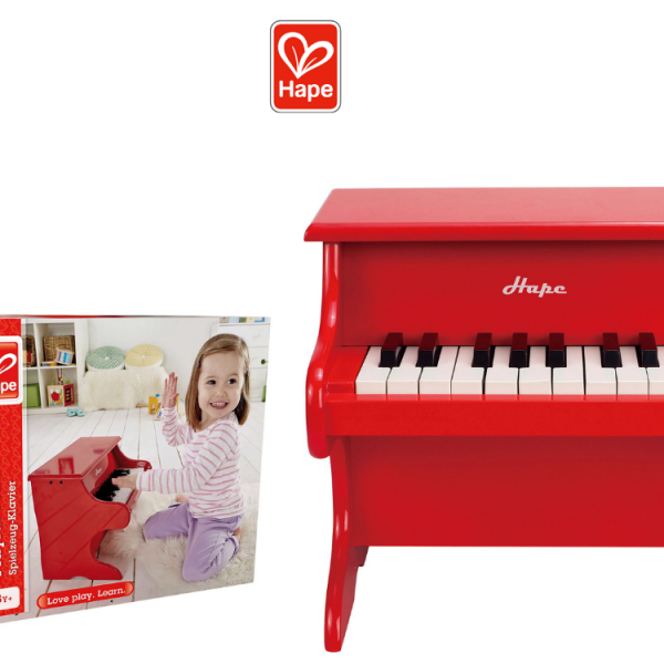 פסנתר אדום משובח לילדים HAPE