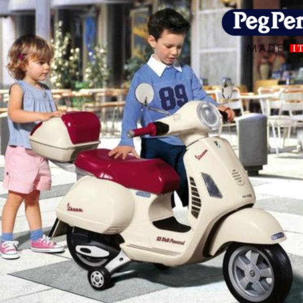 VESPA וספה לילדים דמוי אמיתי! 12 וולט מבית Peg Perego