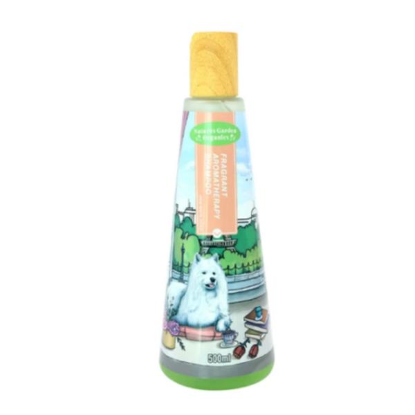 שמפו טבעי ארומטרפי לכלבים לבנים בניחוח רענן 500 מ''ל