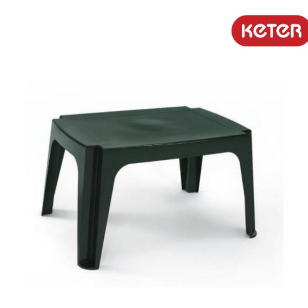 שולחן צד מלבני נמוך לבן - כתר פלסטיק