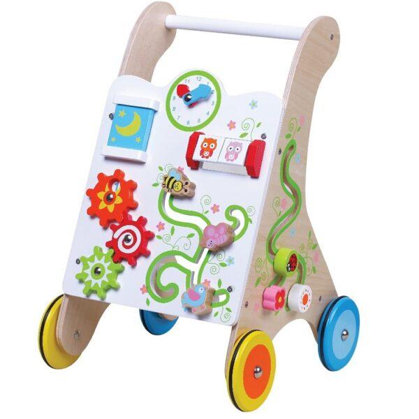 הליכון פעילות לתינוק מעץ